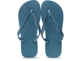 Chinelo Feminino Havaianas Top Metallic Azul Acinzentado - Tamanho Médio