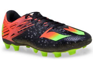 Chuteira Masculina Adidas Af4671 Messi 15 4 Fxg  Pretolaranja/verde - Tamanho Médio