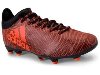 Chuteira Masculina Adidas S82365 X17.3 fg Vermelho/preto - Tamanho Médio
