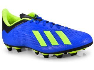 4e755dde553 Chuteira Adidas DA9336 X18.4 FG Azullimão Comprar na...