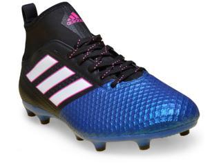 Chuteira Masculina Adidas Ba8505 Ace 17.3 Primemesh fg Azul/preto/pink/branco - Tamanho Médio