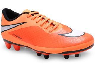 Chuteira Masculina Nike 599809-800 Hypervenom Phade fg Laranja Neon/preto - Tamanho Médio