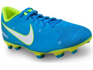 Chuteira Masculina Nike 921511-400 Mercurial Vortex Neymar Iii Njr fg Azul/limão - Tamanho Médio