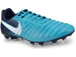 Chuteira Masculina Nike 897744-414  Tiempo Ligera iv fg Azul/marinho/bco - Tamanho Médio