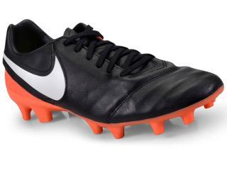 Chuteira Masculina Nike 819236-018 Tiempo Mystic v fg Preto/laranja/branco - Tamanho Médio