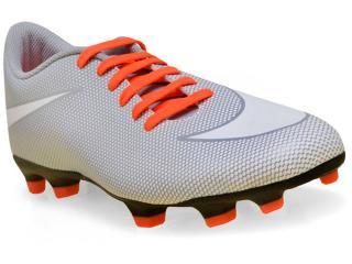 Chuteira Masculina Nike 844436-110 Mens Bravata ii  fg Cinza/laranja - Tamanho Médio