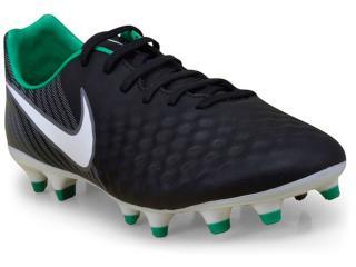Chuteira Masculina Nike 844411-002 Magista Onda ii fg Preto/cinza/verde - Tamanho Médio