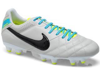 Chuteira Masculina Nike 509085-001 Tiempo Natural iv Ltr f Gelo/preto/celeste/limão - Tamanho Médio