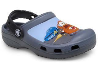 Masc Infantil Crocs Carros Chumbo/preto - Tamanho Médio
