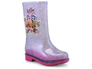 Galocha Fem Infantil Grendene 21966 53532 Vidro Glitter/multicor/rosa - Tamanho Médio