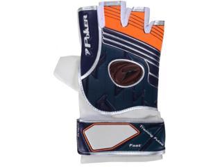 Luva Unisex Poker 01887 Futsal Fast Branco/azul/laranja - Tamanho Médio