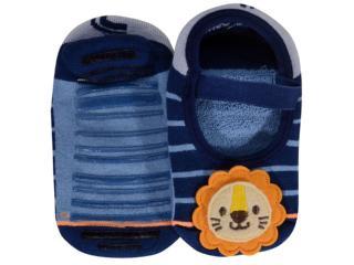 Meia Sapatilha Masc Infantil Lupo 11251 005 2560 Azul - Tamanho Médio
