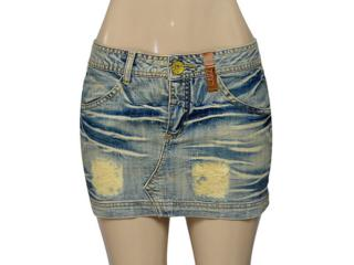 Mini Saia Feminina Zinco 105922 Jeans - Tamanho Médio