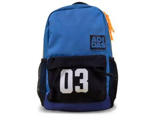 Mochila Masculina Adidas S99845 sw Classic xs  Azul/preto/laranja - Tamanho Médio