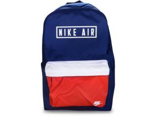 Mochila Unisex Nike Ba6022-492 Heritage Bkpk Azul/vermelho - Tamanho Médio