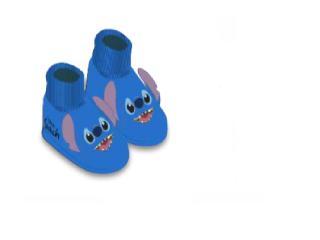 Pantufa Masc Infantil Ricsen 179120 Flat Stich Azul - Tamanho Médio