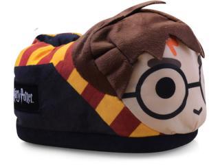 Pantufa Masc Infantil Ricsen 119120 Harry Potter 3d Preto/amarelo/marrom - Tamanho Médio