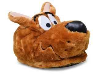 Pantufa Masculina Ricsen 31615 Scooby Doo Marrom - Tamanho Médio