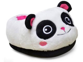 Pantufa Feminina Ricsen 10738 Panda 3d Branco/preto/pink - Tamanho Médio