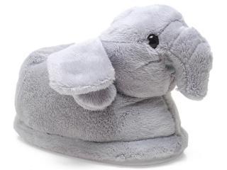Pantufa Feminina Ferpa Elefante 6024 Cinza - Tamanho Médio