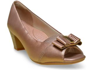 Peep Toe Feminino Campesi 5553 Bronze - Tamanho Médio