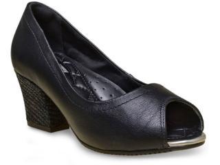 Peep Toe Feminino Comfortflex 16-75303 Preto - Tamanho Médio