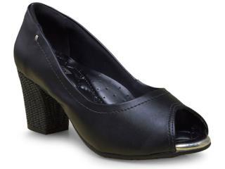 Peep Toe Feminino Comfortflex 17-75305 Preto - Tamanho Médio