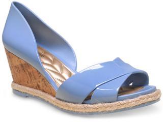 Peep Toe Feminino Petite Jolie Pj1447 Azul Picina - Tamanho Médio