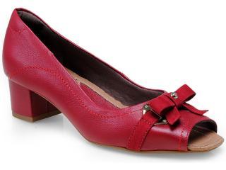 Peep Toe Feminino Usaflex 0221 Vermelho - Tamanho Médio