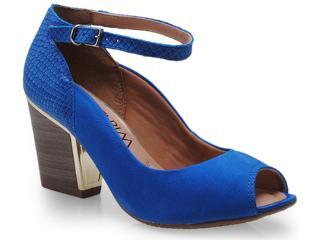 Peep Toe Feminino Ramarim 14-93105 Azul - Tamanho Médio