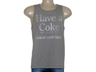 Regata Masculina Coca-cola Clothing 393200438 Cinza - Tamanho Médio