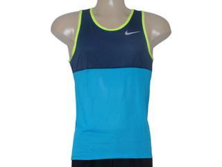 Regata Masculina Nike 642844-407 Racer Singlet  Marinho/azul - Tamanho Médio