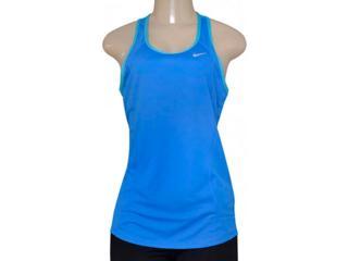 Regata Feminina Nike 645436-435 Racer Tank Azul/celeste - Tamanho Médio