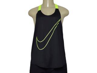 Regata Feminina Nike 822832-010 Training Tank Preto/limão - Tamanho Médio