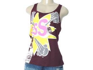 Regata Feminina Coca-cola Clothing 383200531 Bordo Estampado - Tamanho Médio