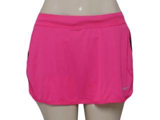 Saia/short Feminino Nike 645586-616 Racer Knit Skirt  Pink /preto - Tamanho Médio