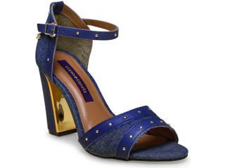 Sandália Feminina Cravo e Canela 147101/1 Jeans Azul - Tamanho Médio