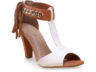 Sandália Feminina Dakota Z0163 Branco/caramelo - Tamanho Médio