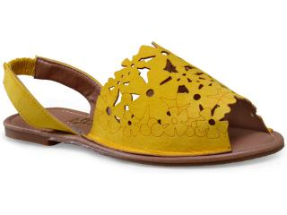 Sandália Feminina Escarlata 3100 Amarelo - Tamanho Médio