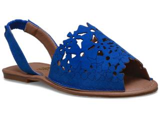 Sandália Feminina Escarlata 3100 Azul - Tamanho Médio