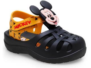ef79cf9a7 Sandália Masc Infantil Grendene 21244 Disney Mickey e Minnie Mundo Magico  Preto amarelo