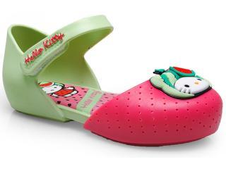 70e06a22ad Sapatilha Fem Infantil Grendene 21198 my Fruit Hello Kitty Rosa verde