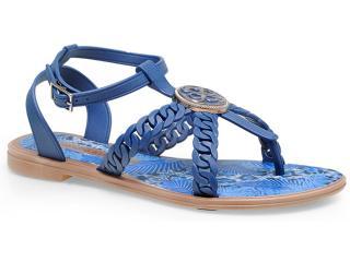 Sandália Feminina Grendene 16846 Grendha jp Tropicana Azul Marinho - Tamanho Médio