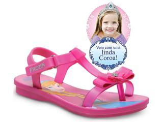 Sandália Fem Infantil Grendene 21251 Disney Frozen Ice Magic  Rosa - Tamanho Médio