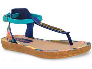 Sandália Feminina Grendene 17084 Grendha Tropicos Sand  Azul - Tamanho Médio