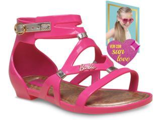 Sandália Fem Infantil Grendene 21333 Barbie Rosa/dourado - Tamanho Médio