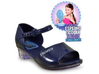 Sandália Fem Infantil Grendene 21630 Frozen Studio Marinho - Tamanho Médio