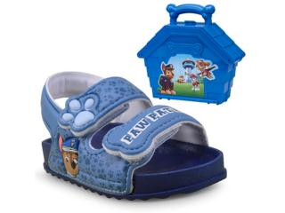 Sandália Masc Infantil Grendene 21673 Patrulha Canina Azul - Tamanho Médio