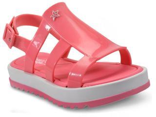 Sandália Fem Infantil Grendene 21683 Larissa Manoela Flat Branco rosa e5d6fb9685