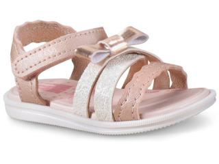 79a2e23b552 Sandália Fem Infantil Grendene 21876 52247 Disney Princesas Sparkle  Bege rosa